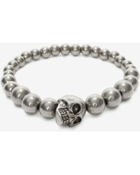 Alexander McQueen Bracelet skull à perles - Multicolore