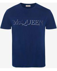 Alexander McQueen - Mcqueen Embroidered T-shirt - Lyst