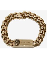 Alexander McQueen Chain And Skull Bracelet - Metallic