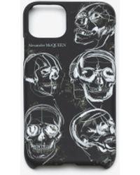 Alexander McQueen ペインテッド スカル Iphone 11 Pro用ケース - ブラック