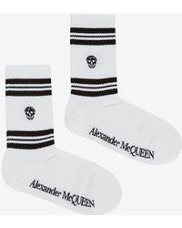 Alexander McQueen Skull Sport Socks - White
