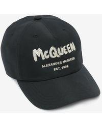 Alexander McQueen McQueen Graffiti Baseball Cap - Noir