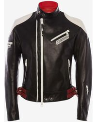 Alexander McQueen レザー バイカー ジャケット - ブラック