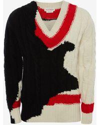Alexander McQueen - Intarsien-Pullover mit Tintenverlauf - Lyst