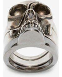 Alexander McQueen - Anello Skull Scomponibile - Lyst