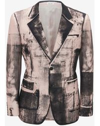 Alexander McQueen Giacca con Stampa X-Ray - Rosa