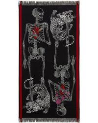 Alexander McQueen Beating Heart Skeleton Shawl - Black