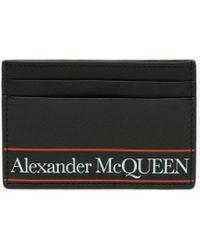 Alexander McQueen ブラック ロゴ カード ホルダー
