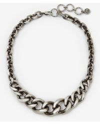 Alexander McQueen Chain Choker - メタリック