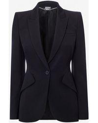 Alexander McQueen - Leaf Crepe Jacket - Lyst