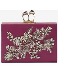 Alexander McQueen - Small Jewelled Double-ring Clutch - Lyst