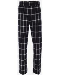 Alexander McQueen - Windowpane Check Tailored Kickback Pants - Lyst