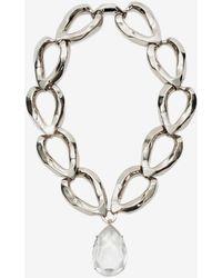 Alexander McQueen Faceted Chain Necklace - Metallic