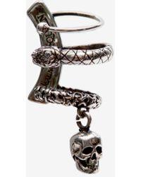 Alexander McQueen Skull And Snake Ear Cuff - マルチカラー