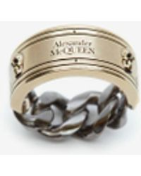 Alexander McQueen Identity Chain Ring - マルチカラー