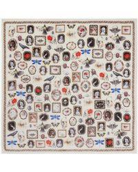 Alexander McQueen Silk Curiosities Shawl - Multicolor
