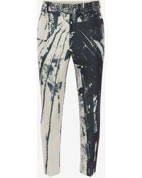 Alexander McQueen - Trompe-l'œil Printed Cigarette Pants - Lyst
