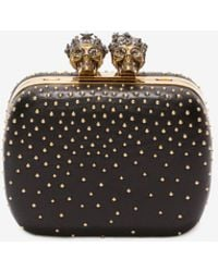 """Alexander McQueen - Studded """"queen And King"""" Skeleton Box Clutch - Lyst"""