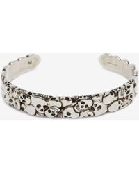 Alexander McQueen Multi Skull Bracelet - Métallisé