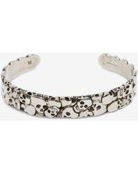 Alexander McQueen Bracelet multi Skull - Métallisé