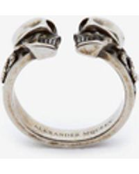 Alexander McQueen | Twin Skull Ring | Lyst