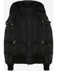 Alexander McQueen Mcqueen Graffiti Puffer Jacket - Black
