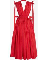 Alexander McQueen Drawstring Ribbon Tie Dress - レッド