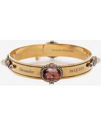 Alexander McQueen - Jewelled Arm Cuff - Lyst