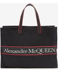 Alexander McQueen イーストウエスト セルビッジ トート - ブラック