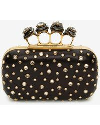 Alexander McQueen Box Clutch Spider Jewelled Four-Ring - Nero