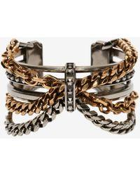 Alexander McQueen Punk chain bracelet - Métallisé
