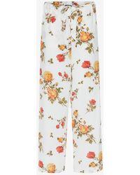 Alexander McQueen - Scarf Print Pajama Pants - Lyst