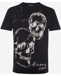 Alexander McQueen - Graffiti Skull T-shirt - Lyst