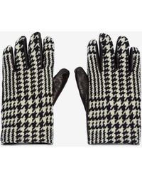 Alexander McQueen - Leather And Cahmere Gloves - Lyst