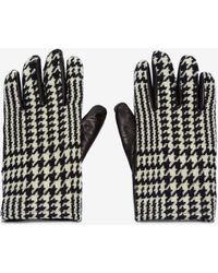 Alexander McQueen - Houndstooth Leather Gloves - Lyst