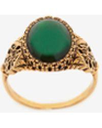 Alexander McQueen Gold Seal Signature Ring - Multicolor