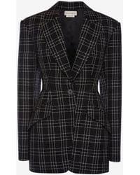 Alexander McQueen - Welsh Check Jacket - Lyst