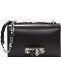 Alexander McQueen Jeweled Satchel - Black