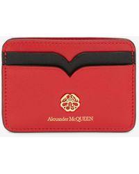 Alexander McQueen Signature Card Holder - Red