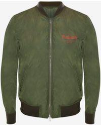 Alexander McQueen Green Mcqueen Graffiti Bomber Jacket