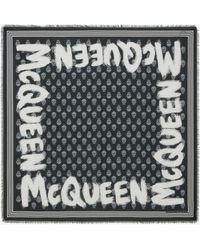Alexander McQueen Mcqueen Graffiti Biker Scarf - ブラック