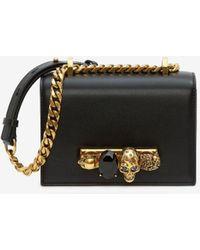 Alexander McQueen Sac Mini Jewelled Satchel - Noir