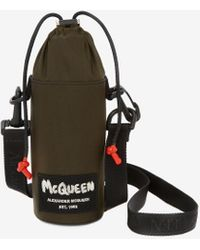 Alexander McQueen Mcqueen tag bottle pouch - Vert