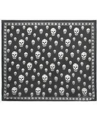 Alexander McQueen - Classic Silk Blend Skull Scarf - Lyst