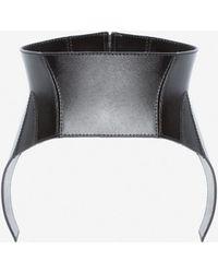 Alexander McQueen Beetle Leather Corset - Black