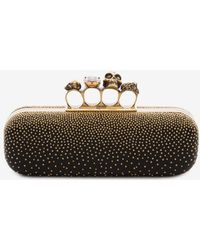 Alexander McQueen Studded Knuckle Box Clutch - Black