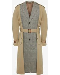 Alexander McQueen Trench-coat ajusté fendu - Neutre