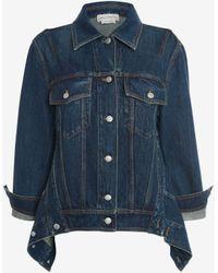 Alexander McQueen Oversize Coccon Denim Jacket - ブルー
