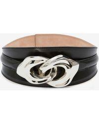 Alexander McQueen Sculptural Link Belt - ブラック