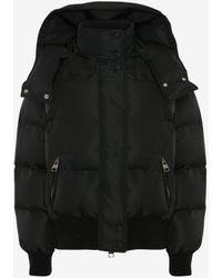 Alexander McQueen Mcqueen Graffiti Puffer Jacket - ブラック